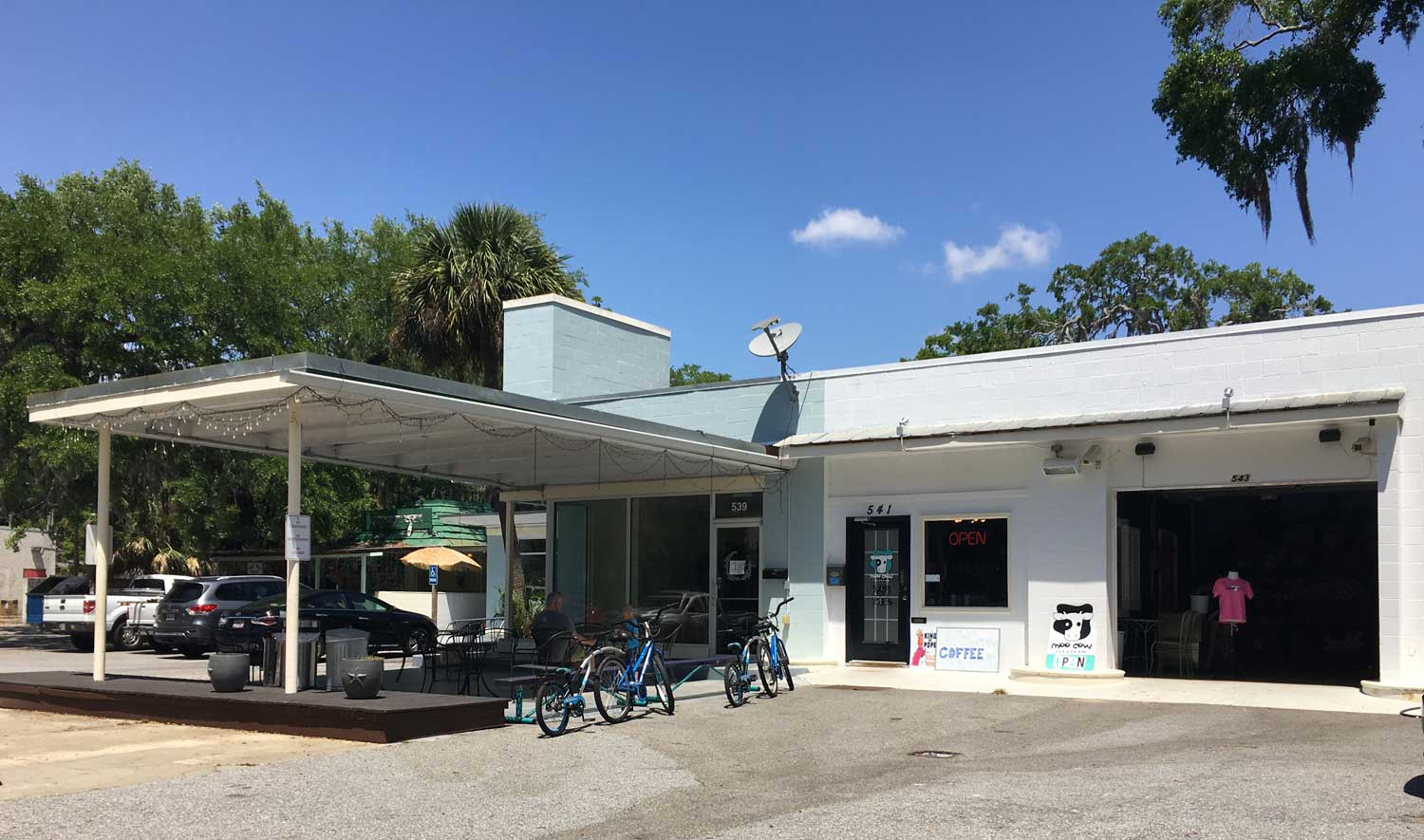 The perfect stop while exploring St Simons Island on tandem bikes is Moo Cow Ice Cream.