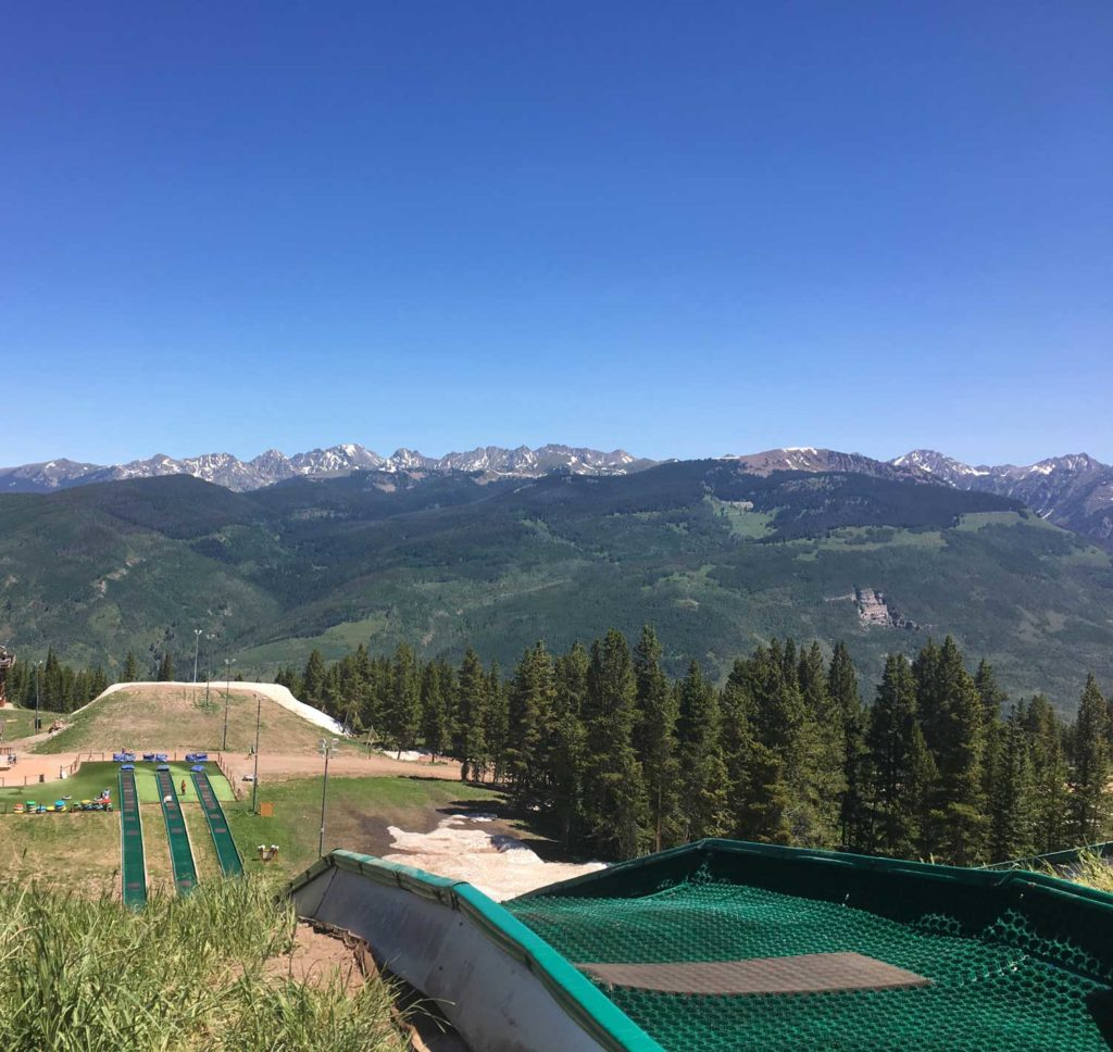 View from the top of Eagle's Nest Summer Tubing.