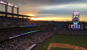 Sunset over Coors Field is spectacular but the highlight for me was catching up with old friends and for the kids the highlights were the Dippin' Dots and Cotton Candy.