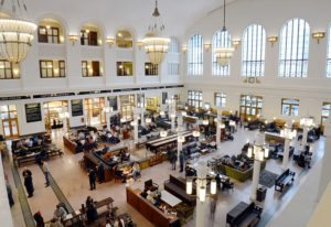 The revitalization of Denver Union Station is amazing. The lobby is bustling with all kinds of people and offers almost anything one could want whether on a stop during log travels or visiting the area for a vacation.