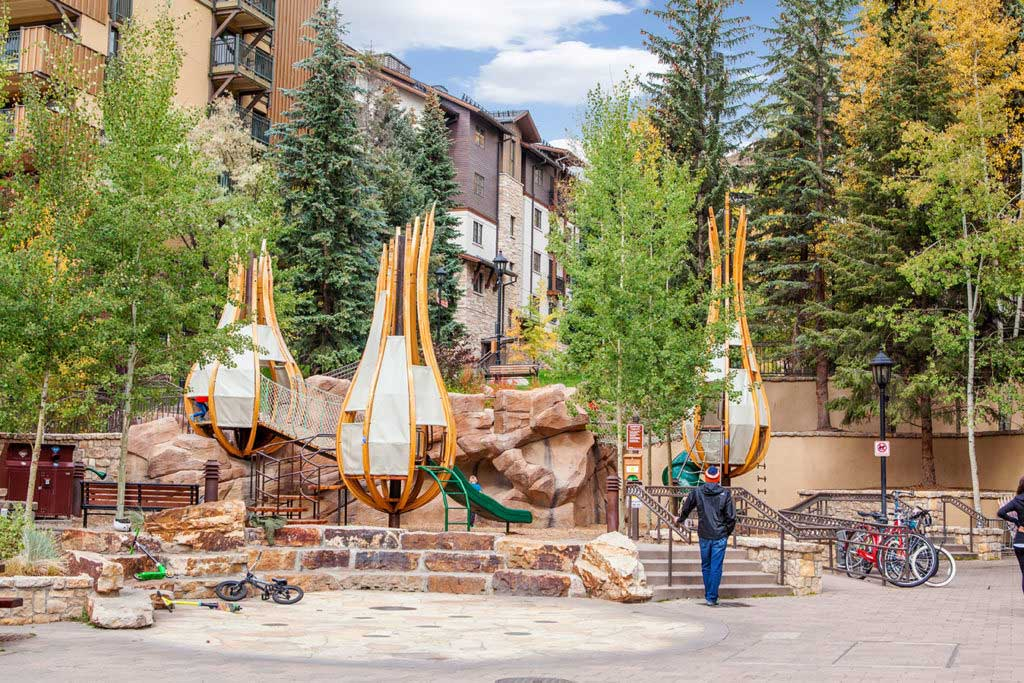 Pod Park in Lionshead Village of Vail, Colorado is a fun one.