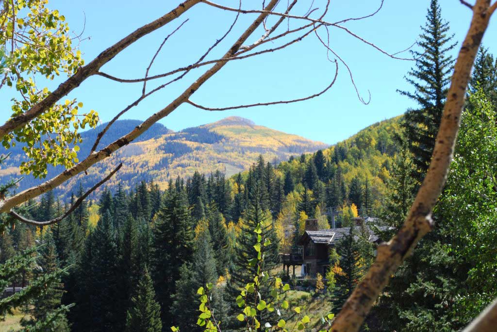 Fall view from an Antlers at Vail Condo.