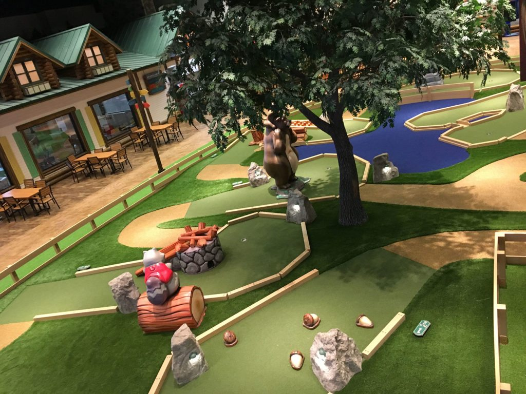 The adventure park at Great Wolf Lodge offers fun on the miniature golf course or ropes course.