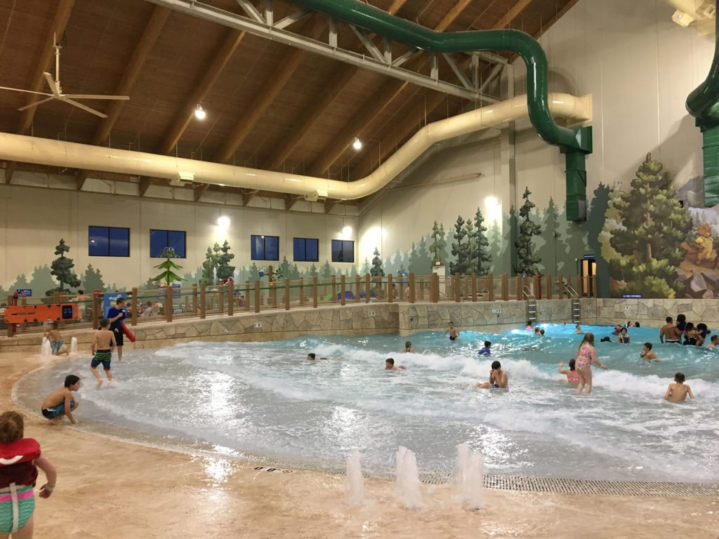 The Slap Tail Pond at Great Wolf Lodge is wave pool fun.