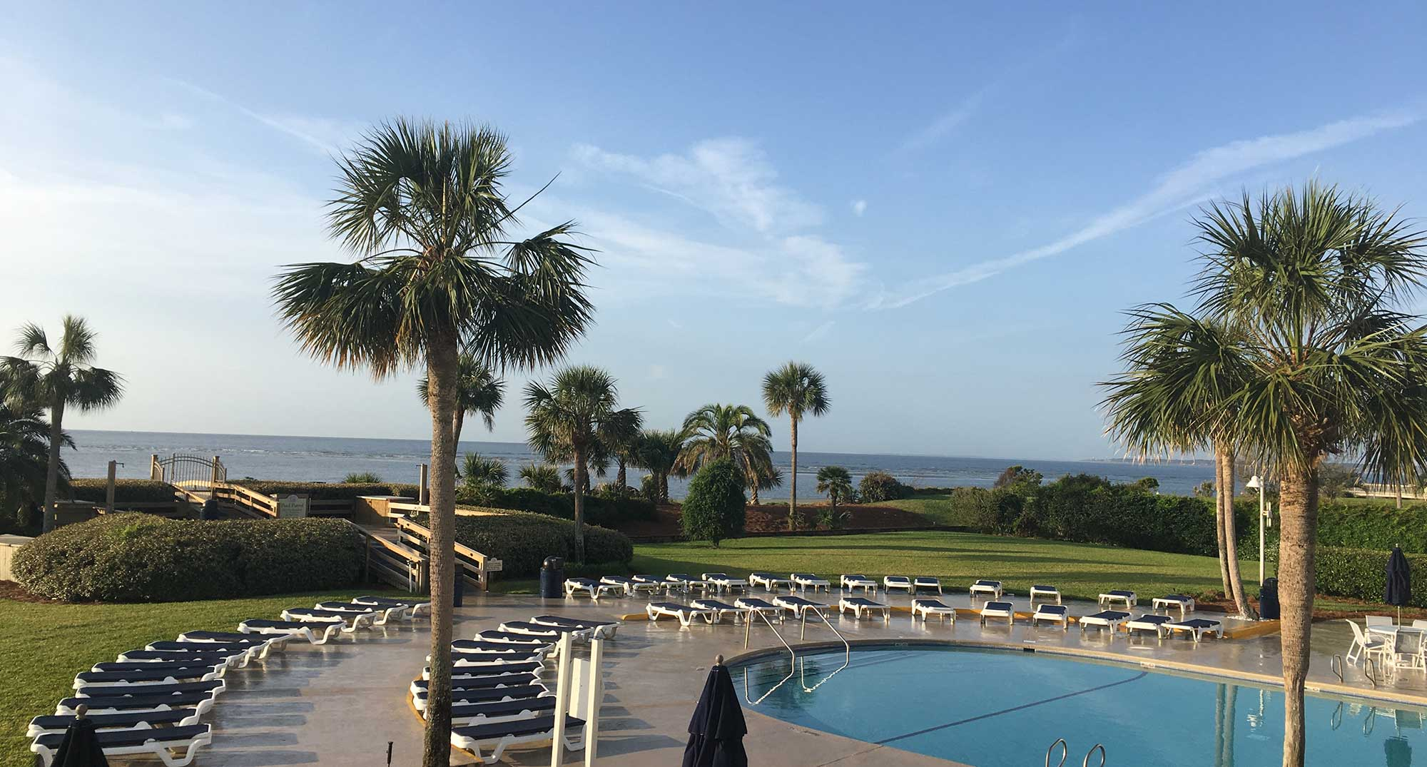 The beach Club at St Simons is an idea home base for families with a beautiful pool and access to the beach just over the boardwalk.