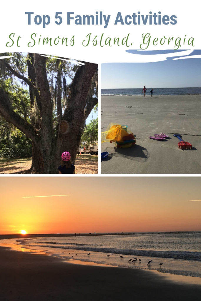 The charming southern town of St Simons Island, Georgia is the ideal place to take a family vacation. From relaxing on the beach, taking in sunsets to exploring the island on bike to discover island tree spirits there are many things to do for families. One of Georgia's Golden Isles, your family is sure to be delighted by this beach town. #GoldenIsles #StSimonsIsland
