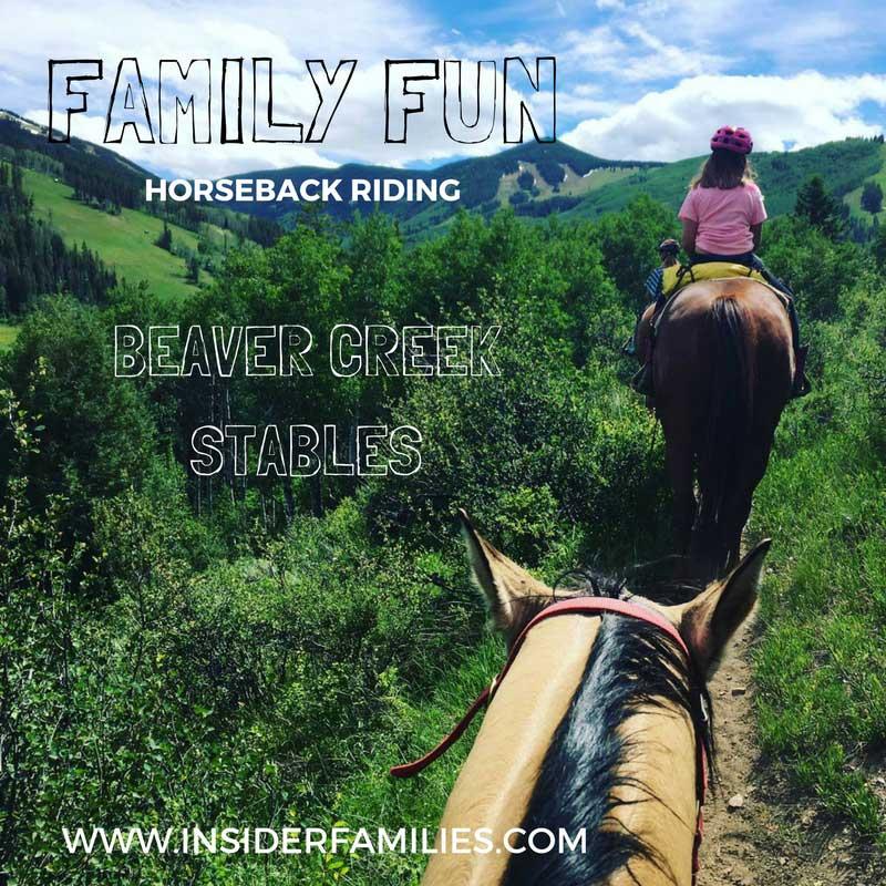 A horseback ride with Beaver Creek Stables through Aspen groves to mountain vistas is a fun family outing!