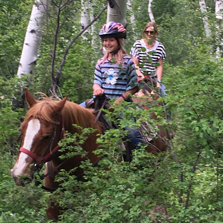 The one-hour Beaver Creek Stables ride took us through Aspen groves where we seemed to be in the middle of no where the we would turn a corner to beautiful mountain vistas.