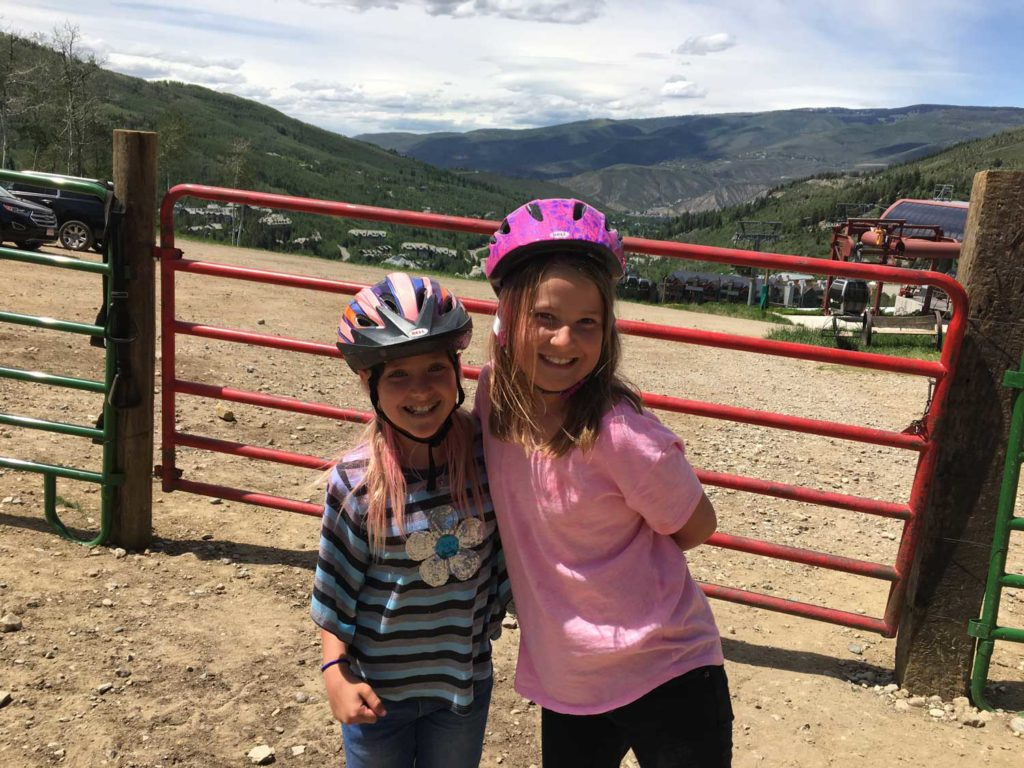 The girls were super excited to get to take a trail ride with Beaver Creek Stables.