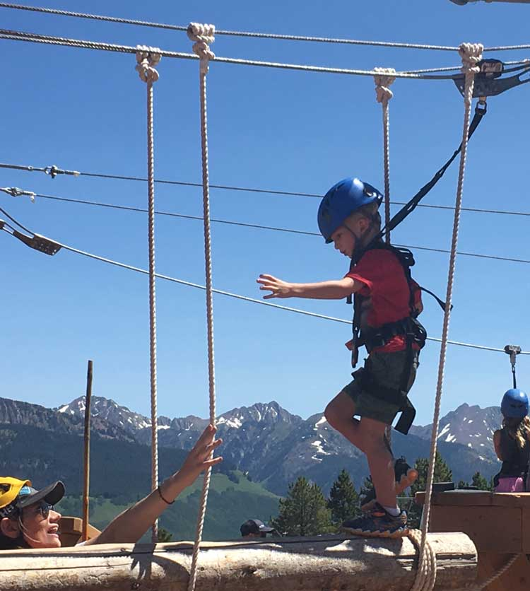 The Epic Discovery Pinecone Adventure course will test the bravery of little first-timers.