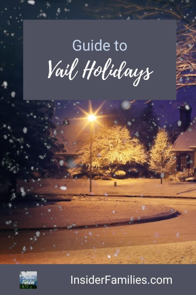 The holidays in Vail are a special time with twinkling lights on snow covered pine trees, epic skiing and lots of fun holiday events. #Vail