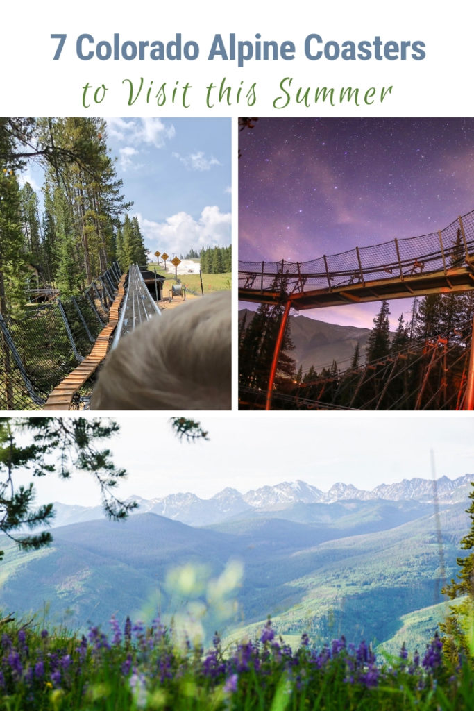 7 Colorado alpine roller coasters exist in a spectacular natural mountain environment. No concrete jungle surrounds these thrill rides. Soar down the mountain amidst a forest and with spectacular mountains as the backdrop. #VisitColorado #alpinecoaster #thrillride