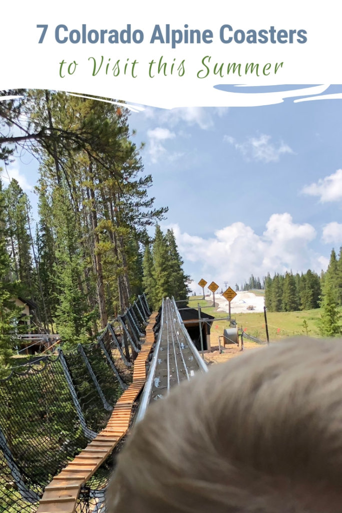 7 Colorado mountain towns boast alpine coasters set in a spectacular natural mountain environment. No concrete jungle surrounds these thrill rides. Soar down the mountain amidst a forest and with spectacular mountains as the backdrop. #Colorado #alpinecoaster #thrillride