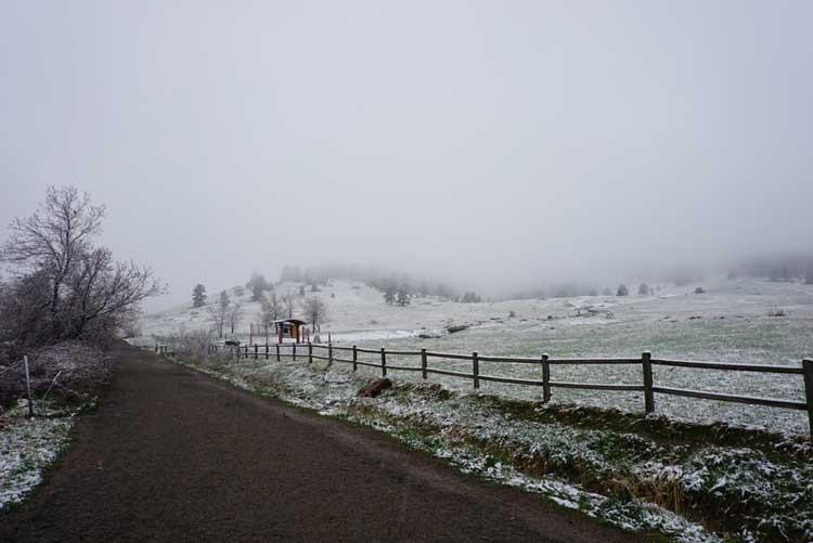 Chautauqua Park in Boulder Colorado in winter