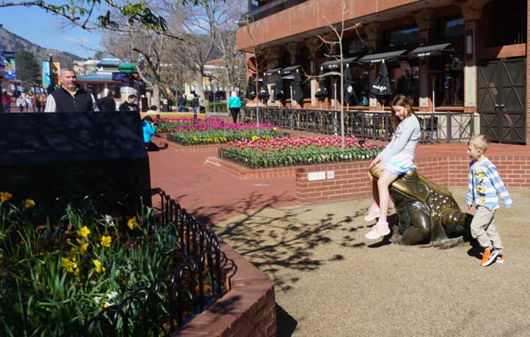 Pearl Street Mall in Boulder with kids is a good time!
