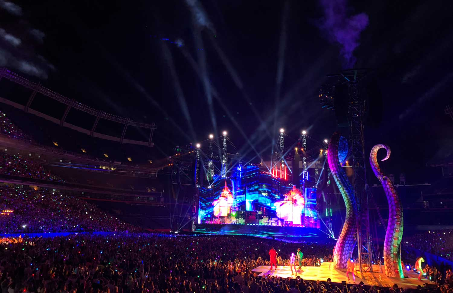 Synchronized light up bracelets add to the experience of taking your daughter to a Taylor Swift concert.