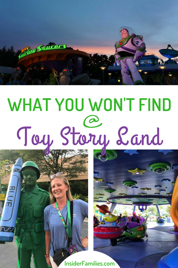 Here's what you won't find at the all new Toy Story Land Walt Disney World in Orlando, Florida opening June 30, 2018. And, what you will find! #toystoryland #tmomdisney #disney #ilovedisney #disneynerd #hollywoodstudios #disneyworld