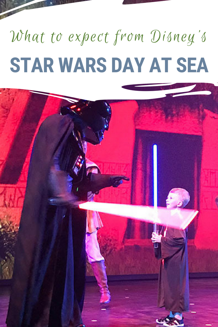 If you are a family of Star Wars geeks you might actually be thinking of planning a Disney Cruise around the Star Wars Day at Sea. Read on for what to expect on the Disney Cruise Line Star Wars Day at Sea! #StarWars #StarWarsDayatSea #Disney #DisneyCruise #DisneyCruiseLine #CaribbeanCruise #FamilyCruise