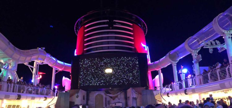 Evening show at Disney Cruise Line Star Wars Day at Sea