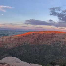 Colorado National Monument at sunset