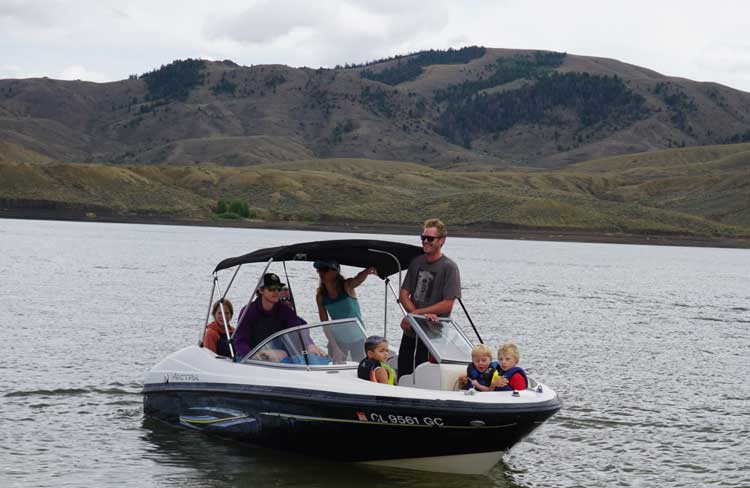 Boating on the Wolford Reservoir, Colorado