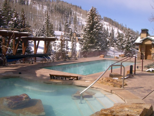 Most ski resorts offer outdoor heated swimming pools and hot tubs fun for the enture family.
