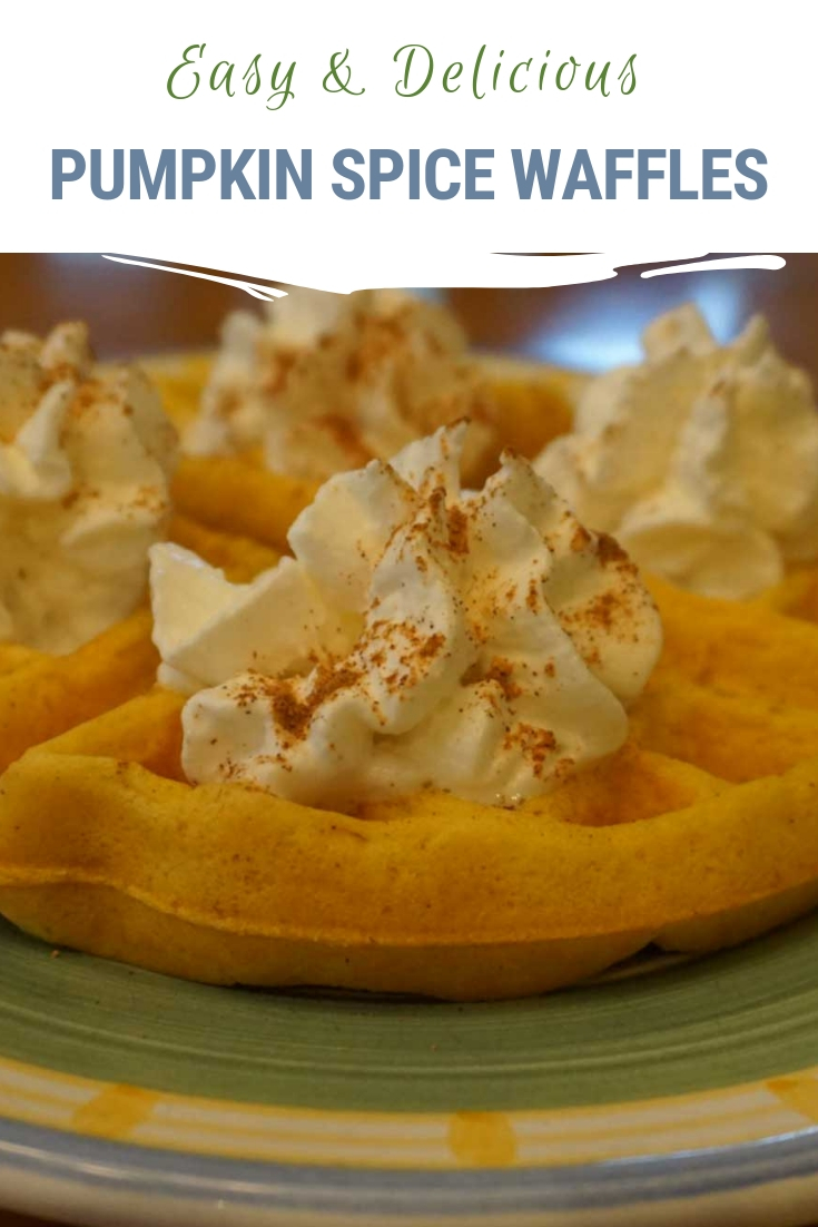 Delicious pumpkin spice waffles make an easy weekend breakfast for the family and super easy reheatable breakfasts for school days. Plus they are chock full of nutrients for your growing kiddos. Get our recipe here! #pumpkinspice #waffles