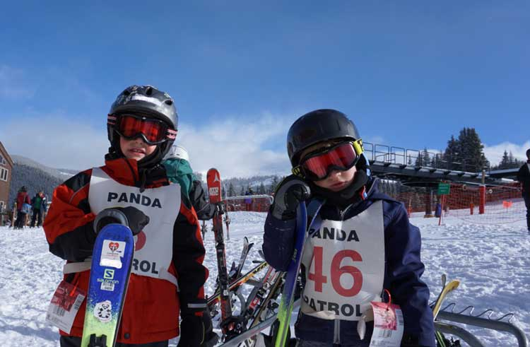 Ski school is a must for a first family ski vacation.