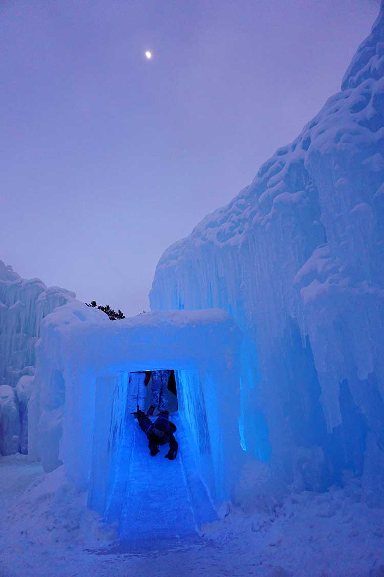 Several ski resorts will have the beautiful ice castels nearby.