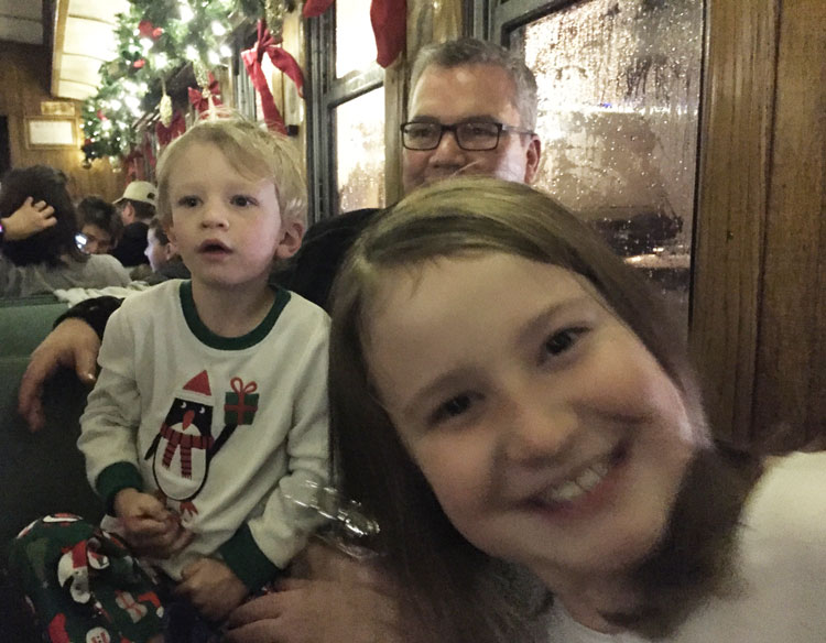Aboard the Polar Express at the Durango Silverton Railroad.