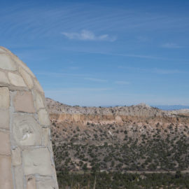 The view leaving Bandelier National Monument.