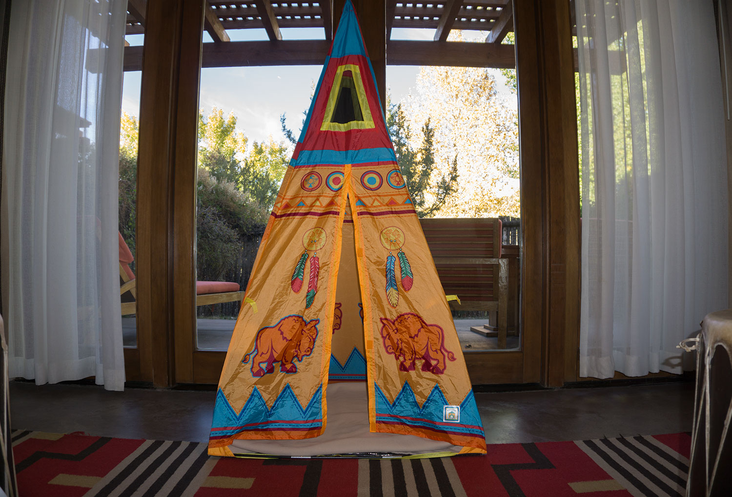 The Four Seasons Santa Fe welcomes children with a fun tent awaiting in the casita.
