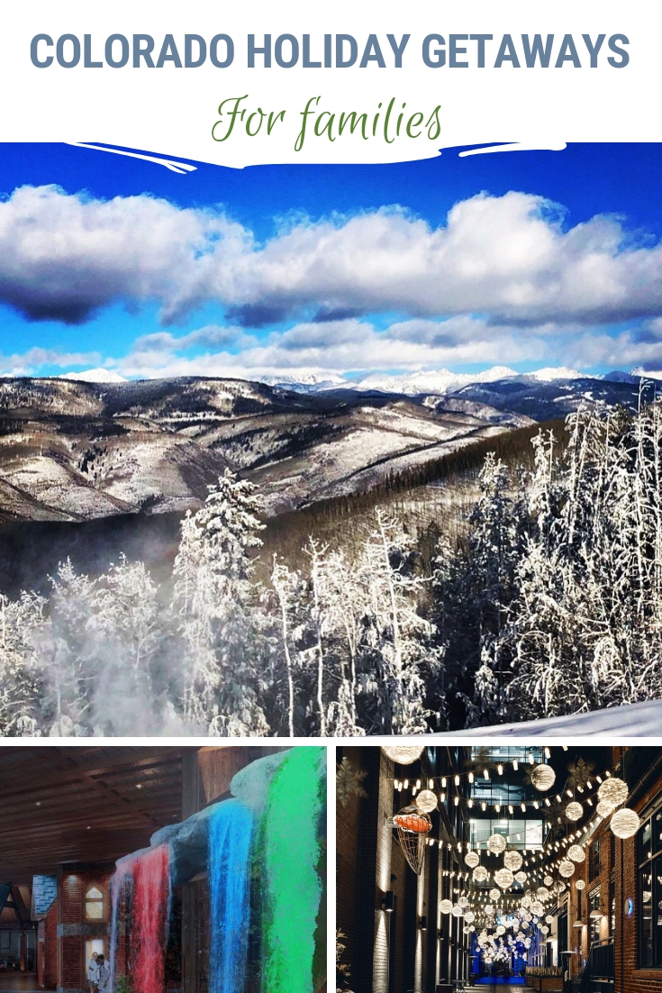 Colorado holiday getaways provide Christmas magic. The trees are covered with lights & fresh snow. Holiday light extravaganzas and visits with Santa abound. Have you thought about visiting Colorado for the holidays? Here are our recommendations! #Colorado #Holidays