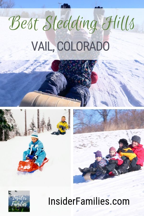 Ski resorts still have one completely free winter activity that is fun for all - sledding. Find out the best sledding hills in the Vail, Colorado area! #sledding #Vail