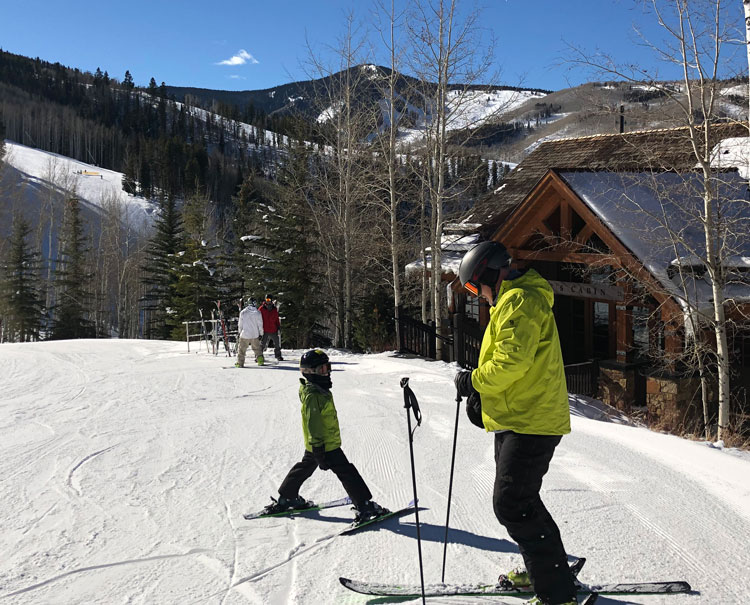 Kids learn to communicate and be prepared skiing.