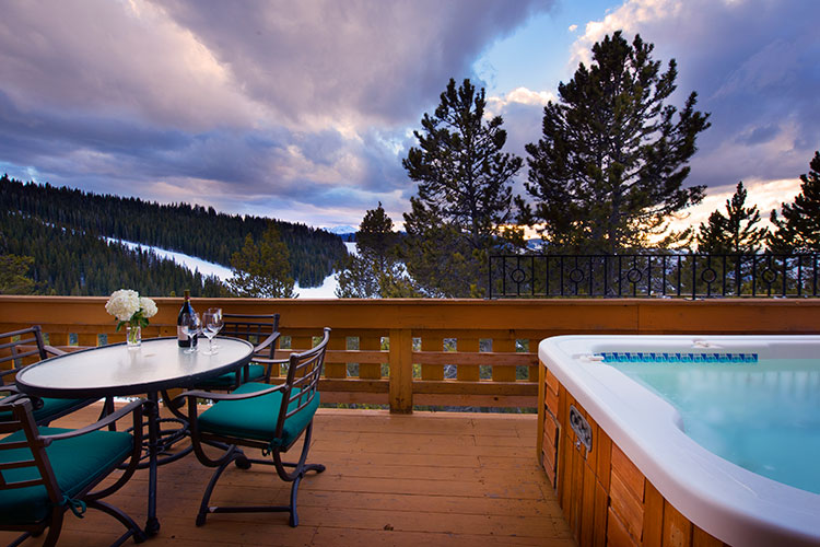 The hot tub at Game Creek Chalet may be the highest mountain top hot tub in Colorado.