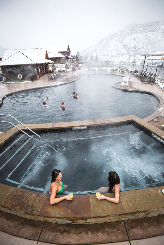 Glenwood Springs may be the mecca of all Colorado winter pool destinations.