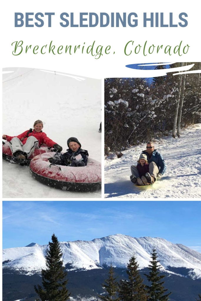 Summit County boasts a few sledding hills sure to satisfy kids of all ages. Find out the best Breckenridge sledding hill! Or, hear about Frisco Adventure Park, Keystone Resort and Copper Mountain snow tubing. #sledding #Colorado