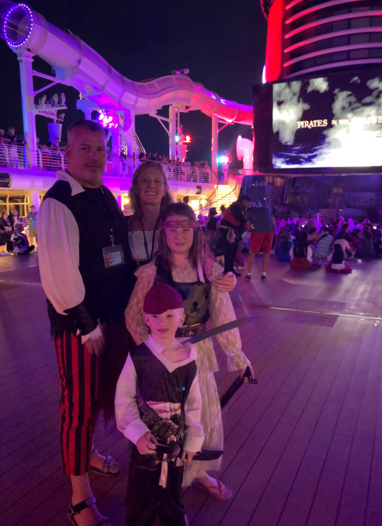 Disney Cruise Pirate Night Tip #1; Pack cistumes for the whole family!