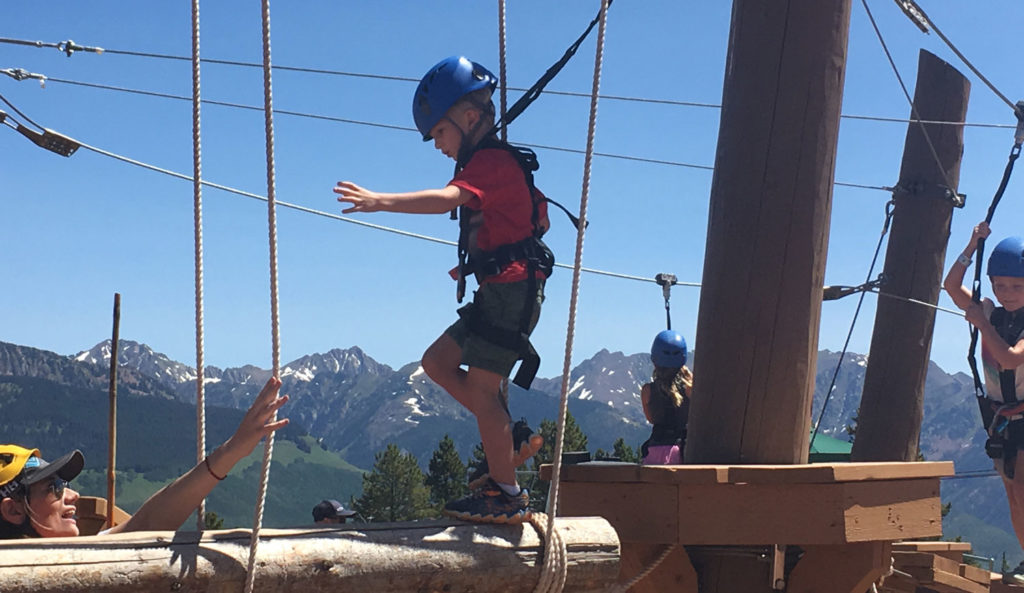 playing at epic discovery atop vail mountain in colorado