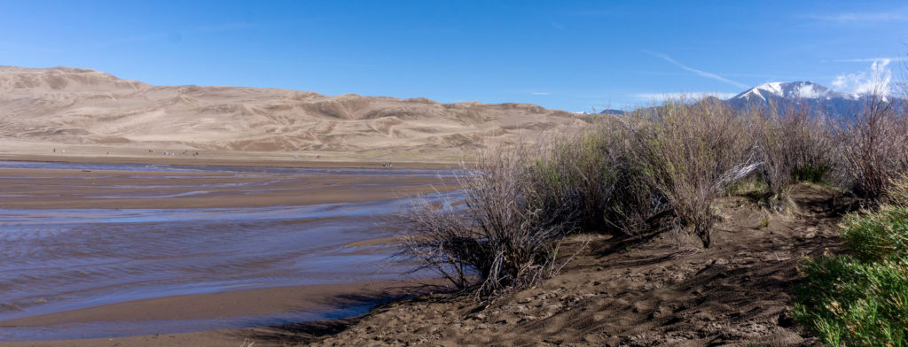Surge flow at Medano Creek at Great Sand Dunes National Park.