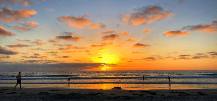 Vibrant sunset at La Jolla Shores