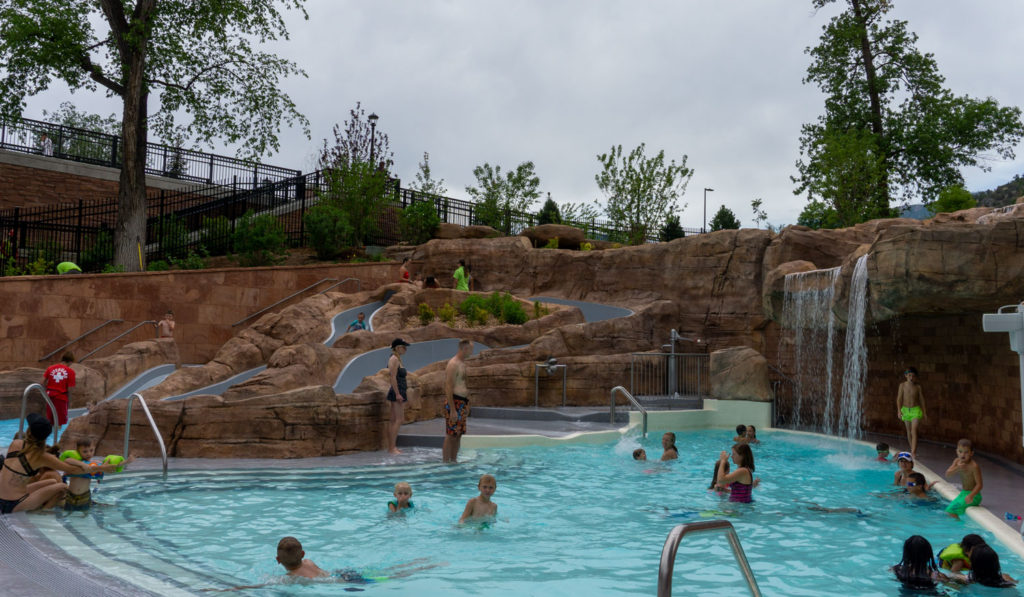The new kids area at Glenwood Hot Springs Pool emulates and is names after the famous waterfalls in the canyon.