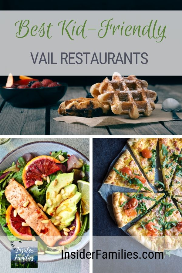 Looking for kid-friendly Vail restaurants? A local family tells their favorite places to eat with kids in the Vail Valley. From kids menus to patios find the right restaurant for your family in Vail, Colorado! #Vail #Colorado
