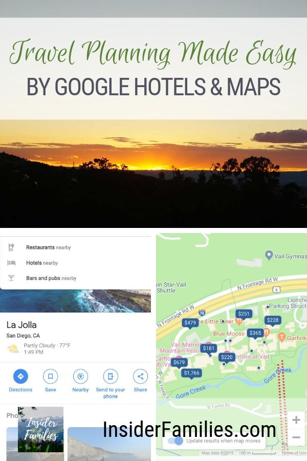 How to use Google Maps & Google Hotels to find the perfect hotel. Vacation planning made easy with location, photos, reviews and more all in one place. #familyvacation #googlehotels