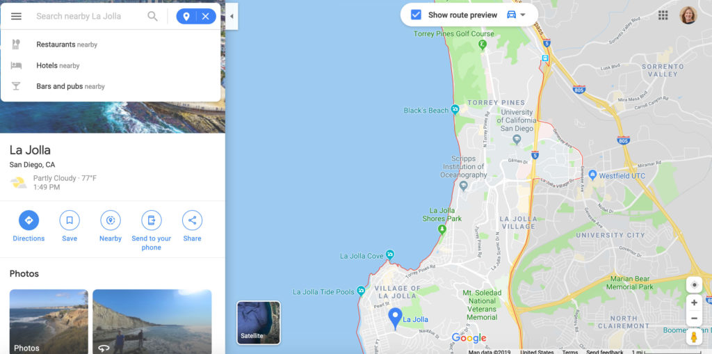 Google Maps Nearby function