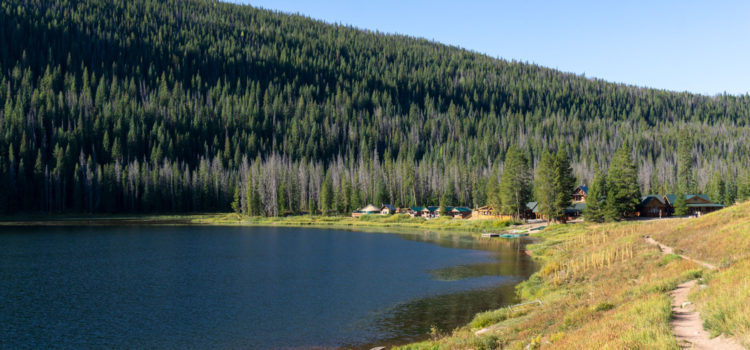 Cabins dot the shore of Piney Lake Vail.