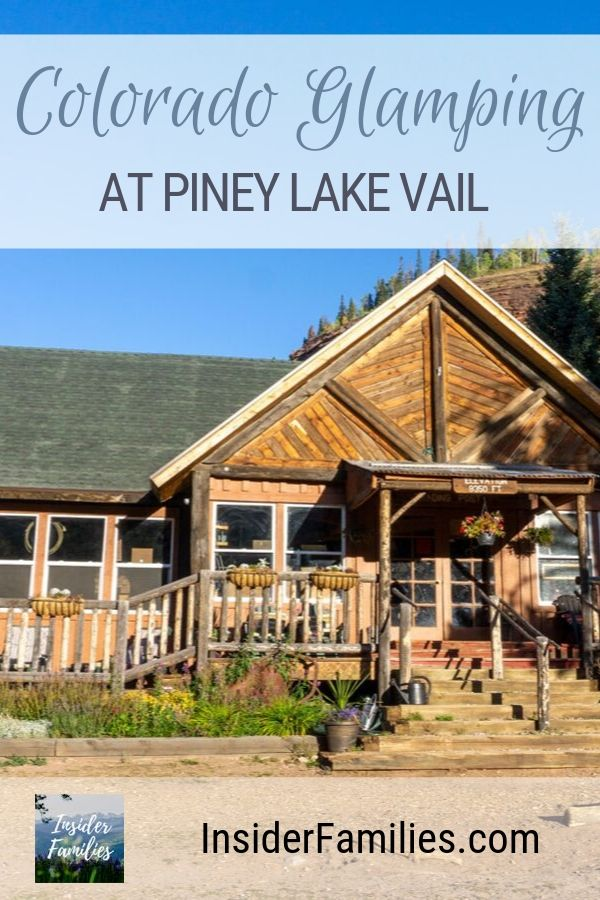 Piney Lake Vail is best known for spectacular weddings. But to make the most of this serene place, rent a cabin or tent and go glamping. Find out everything you need to know about glamping at Piney River Ranch Colorado! #glamping #colorado