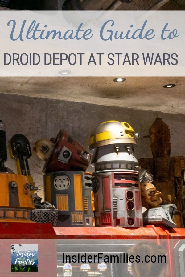Everything you need to know about Droid Depot at Star Wars Land! Customize your own R or BB unit droid at Droid Depot at Galaxy's Edge Walt Disney World. #StarWars #GalaxysEdge