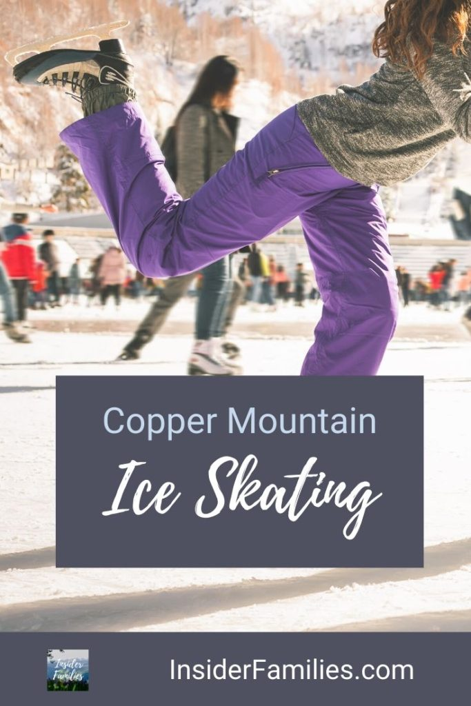 There's something magical about gliding on an outdoor ice skating rink. Here's where to find Breckenridge ice skating & other Summit County ice skating rinks, such as Keystone, Copper Mountain and even Frisco! #iceskating #colorado